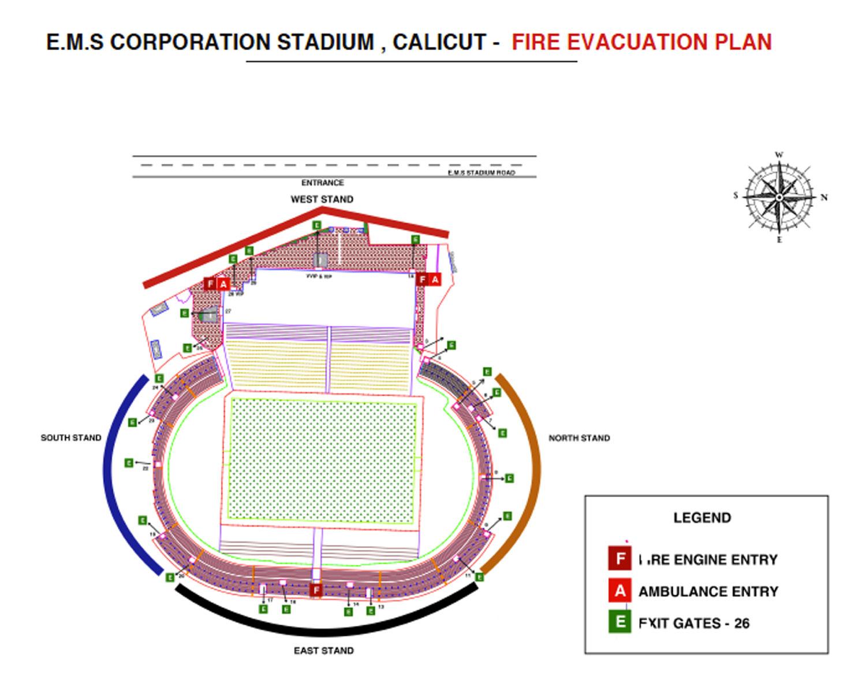EMS Stadium Layout - GokulamKeralaFC